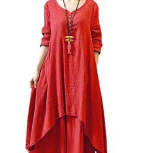 Dresses & Skirts - Women Boho Layer Vintage Maxi Dresses with Pockets